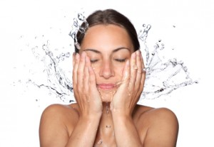 washing face and treating combination skin