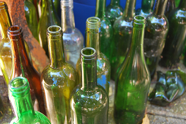 empt alcohol bottles