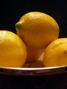 dish of lemons
