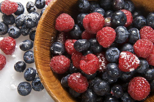 organic berries for natural beauty salad