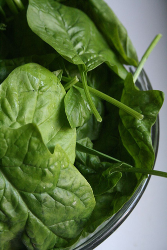 organic spinach for natural beauty salads