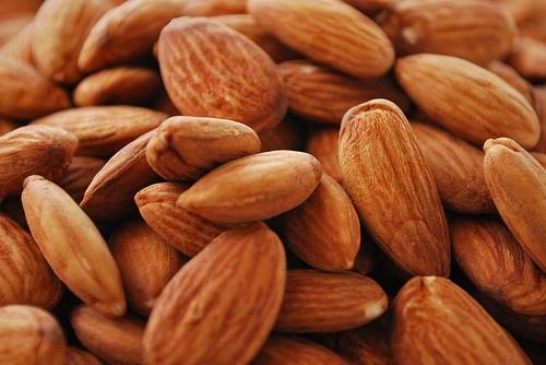 organic almonds for natural beauty salad